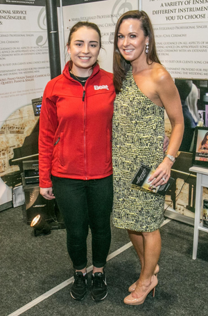 Maria Fitzgerald with Clodagh Murphy of Beat FM's 'Beat Fleat' at The Wedding Day expo in Kilkenny