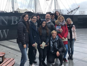 Italian agents visiting the Dunbrody famine ship in New Ross