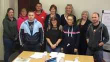 Participants on a Job Skills Workshop with Wexford Local Development