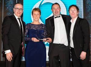 Mary and Pat O'Neill receive their Small Producer of the Year Award at the Irish Quality Food Awards