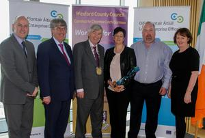 Tom Banville (LEO), John Carley (Director of Services), Tony Dempsey Chairman of Wexford County Council, Martina Hennessy, John Hennessy and Breege Cosgrave.