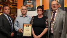 Jack Wallace, Pat and Catherine Cullen, Butlers Bar & Restaurant, Broadway, and Padraic McGann, VFI President