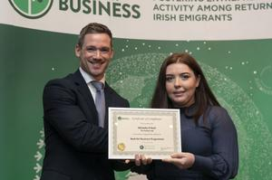 Michelle O'Neill who took part in the programme last year with her business The Perfect Job