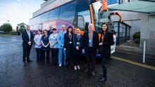 David Beirne, CEO UPMC Whitfield; Katie Eldridge, Nurse, UPMC Whitfield; Brendan Buckley, Wexford Bus; Ann Martin, Team Lead Preassessment, UPMC Whitfield; Caroline Simmons, Nurse, UPMC Whitfield; Ann Barry, Nurse, UPMC Whitfield; Ger Ruane, Receptionist, UPMC Whitfield; Tara Grant, Quality & Safety Manager, UPMC Whitfield; Brendan Crowley, Managing Director, Wexford Bus; Amy Pettit, Marketing and Business Development Director, Wexford Bus