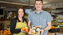 Laura and Tom Sinnott with their marmalades