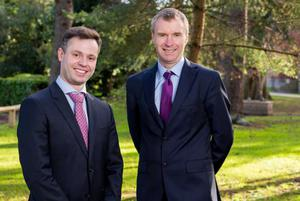 James Kelly with Professor Anthony Brabazon, Dean, UCD College of Business