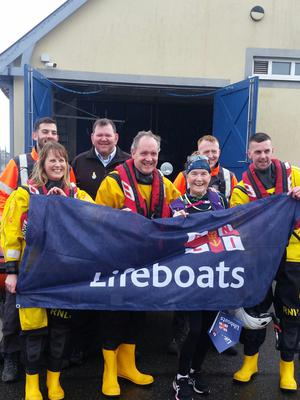 Mary with members of Wexford RNLI