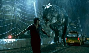 Ian Malcolm (played by the ever entertaining Jeff Goldblum) runs from a T-Rex in Jurassic Park (Sunday, ITV, 5.45pm), still packing a punch after 27 years