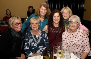 Catherine O'Connor, Muriel Lynch, Julie Sludds, Linda McLoughlin, Ella Furlong and Patricia McLoughlin at the fundraiser for 'Wexford People Helping People' in the Riverbank House Hotel on Friday night.