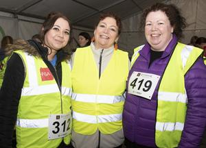 Pauline O'Leary, Marian O'Leary and Kathy Wright taking part in the Wexford Credit Union Night Run