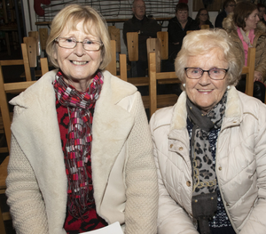 Marian and Betty Dunne at the Hope Cancer Support Centre's annual Winter Solstice Ceremony of Light and Healing in the Irish National Heritage Park