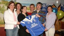 Looking back - Edel McCabe, Marguerite Murphy, Brid Curran, Brenda Fox, Joe Fox and Ann Marie Cullen at a jersey presentation for Shelmaliers Ladies Football Club in Hotel Curracloe in 2005