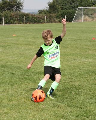Sean Halpin  in action at the soccer summer camp at All Blacks AFC.