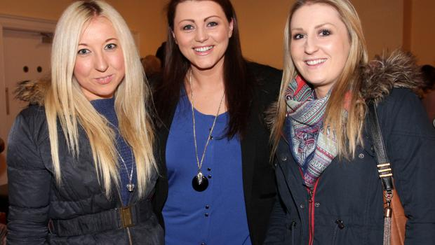 Bernie Murphy, Siobhan Browne and Caroline Murphy at the a Ladies Night fundraiser in the Danby Lodge on Thursday night in aid of St Mary's Day Care Centre, Tagoat.