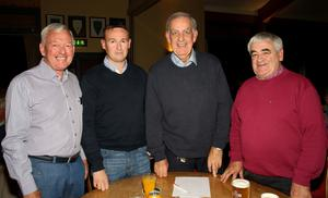 John Denton, Niall Denton, John Meyler and Billy Boggan at the table quiz in aid of SERT (South East Radiotherapy Trust) in Wexford Golf Club on Wednesday evening.