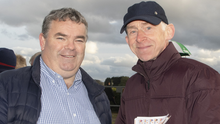 George Dee from Taghmon and Kevin Hogan from Wexford enjoying a day at the races at Bettyville racecourse, Wexford