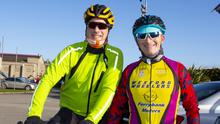Garry Field and Paul Glynn from Wexford at the start of the Barrow Wheelers sportive cycle in New Ross