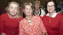 Ciara Day, Kathleen Kelly and Mary White enjoying the fashion show in the Riverbank Bank House Hotel in aid of Tomhaggard Social Centre and Women's Shed