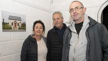 Catherine Goff, Joe Goff and Paul O'Keeffe at the opening of a photographic exhibition on labourers cottages by Simon Bates and art exhibition by Imogen Stafford in Yola