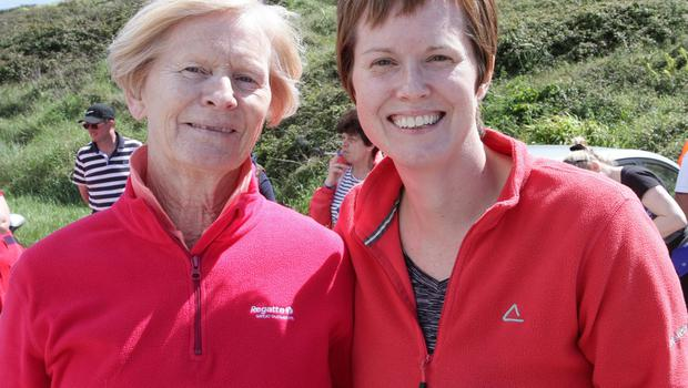 Sheila Doyle and Louisa Doyle who were taking part in the 16K coastal walk in aid of the RNLI Rosslare Harbour on Saturday.