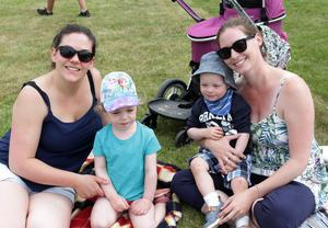 Shelia and Emily Furey and Finn and Claire McKiernan enjoying their day out at the Rosslare Strand Field Day on Sunday afternoon.