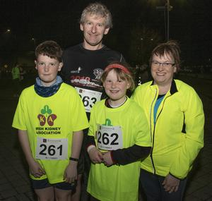 Fionn, Steve, Sinead and Mary Mulligan taking part in the Wexford Credit Union Night Run