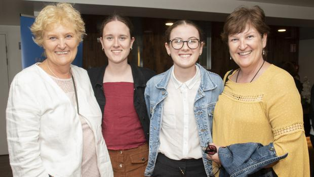 Kate Banville, Laura O'Regan, Amy O'Regan and Bernie O'Regan at the concert given by David Brophy's Choir of Carers in the National Opera House