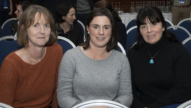 Aideen Buckley, Niamh Woulfe and Orlagh Murphy at the Psychological Society of Ireland's AGM in Clayton Whites Hotel