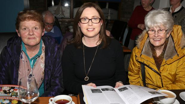Kate Dooley, Dr. Aoife Whelan and Joy Sheppard at the launch of the Blackwater Parish Journal in the Lodge Hotel, Blackwater on Saturday