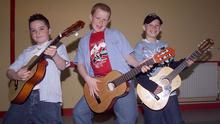 A look back in time - Clonard Youth Club members James Flood, Ciaran Byrne and Sean Pailing took part in the FDYS Junior Variety Show at Bree Community Hall with their act 'Busted' in 2004