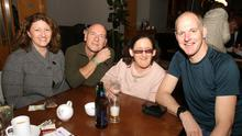 Karen Vaughy, Philip Donovan, Emer Mullhall and Anthony Dowd enjoying their night out at the the table quiz in Wexford Golf Club in aid of Stagefright
