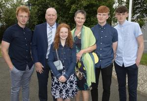 Piercestown NS pupil Kate Stafford at her Confirmation in St Martins Church, with her parents John and Miriam and brothers Sean, Ben and Conor