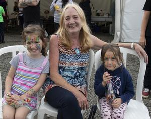 Emily and Brooke McGibney with their nan Deirdre Eckbauer at the Castlebridge horticultural and agricultural show