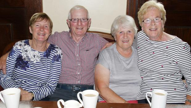 Deirdre Brady, Noel Howlin, Joan Radford and Margaret Howlin at the coffee morning in aid of Lochlann Doyle in St Martin's GAA clubhouse.
