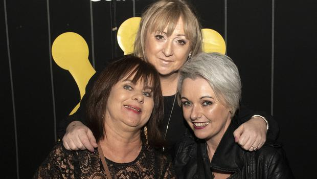 Mary McGuire, Ann Bierney and Shelia Roche at the launch of Borderline's 25th anniversary CD 'The Road So Far' in the Crown Bar