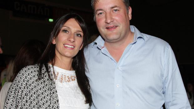 Sandra and John Hore  at the barbecue in St. Mary's GAA Centre, Tagoat on Saturday night.