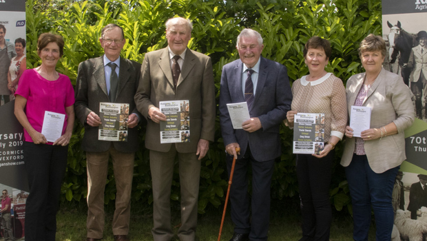 At the launch of the Bannow & Rathangan 70th Agricultural Show: from left Eileen Cullen (Joint Treasurer), Ronnie Scanlon (Joint Treasurer), Walter Kent (Vice Chairman), Paddy Murphy (President), Betty Stafford (Vice Chairperson) and Liz Freeman (Secretary)