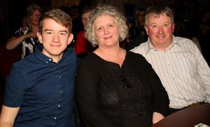 John, Carmel and James Gilhooly at the 'Music At The Manor' event in Slaney Manor, Barntown in aid of Wexford Hospice Homecare and Barntown Parish  on Friday night
