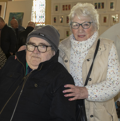 Gerry and Audrey Quirke at the art exhibition and craft fair in Grantstown community village