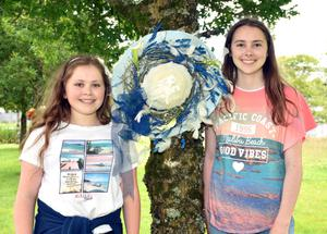 Lucy and Abbie Salm at the County Wexford Garden and Flower Club's 50th anniversary show in Johnstown Castle on Saturday.