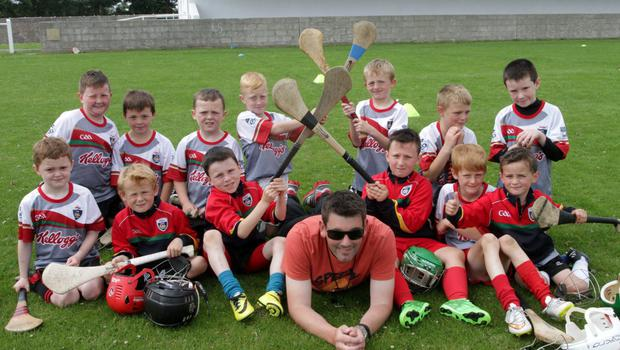 Coach Conor Conway and his group at the Cúl Camp in Grantstown.