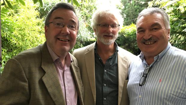 David McLoughlin, Bernard Browne and David Lynch at the annual barbecue for Wexford Festival Opera volunteers in the Riverbank Hotel
