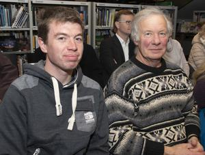 Brian and Michael O'Connor attending the talk 'Can We Change? A Climate Action Discussion' in Wexford Library as part of Science Week