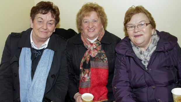 Phil Hartley, Anna Rowe and Mary Joe Kent attending the Open Day in the Women's Refuge Centre on Monday afternoon.