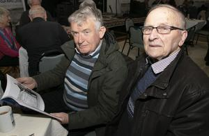 John Boyce and Jim Power at the launch of Jackie Hayden's book'Sea Fever' in the Stella Maris Centre, Kilmore Quay