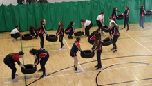 Loreto Secondary School students taking part in exercises as part of their Active Day recently