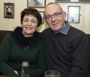 Laura and Ger Lawlor enjoying their night out at the Wexford Drama Festival fundraising table quiz in Simon Lambert's on Thursday night