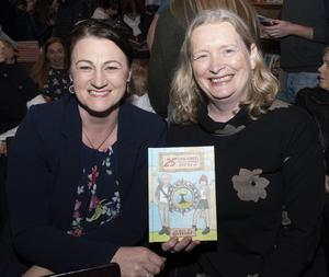Sylvia Wickham and Siobhan Tynan at the launch of Nicola and Austin Gregg's book '25 Challenges To Do Before You're 12' in Wexford Book Centre