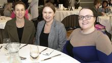 Linda Doran, Samantha Byrne and Cora Breen at the Wexford Chamber lunch with guest speaker Tracy Piggott in Newbay House