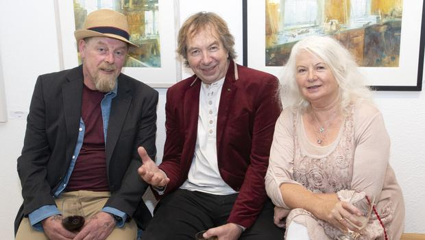 Pip Firman, Michael Way and Irene Way at the Wexford Arts Centre gala fundraiser in Greenacres on Thursday evening